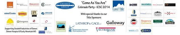 Huge Thanks to all of our Sponsors at our Come As You Are Colorado Party!